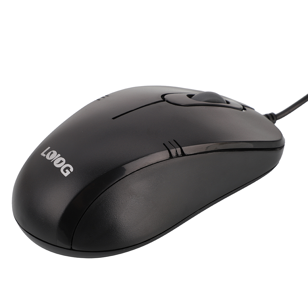 Details about New Brand Wired Mouse Black Smooth Scroll Wheel Computer  Desktop Mice Lotus Head